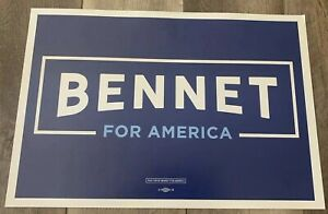 Michael Bennet Official Rally Placard 2020 Presidential Campaign Colorado Senate