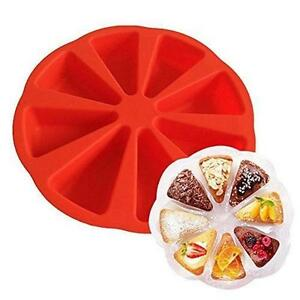 Silicone Scottish Scone Round Baking Pan 8 Cavity Triangle Cake Mold DIY LT