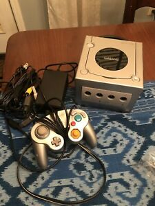 Nintendo GameCube Platinum Console with Controller: Cleaned and Tested! ALL OEM