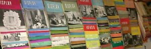 JOB LOTS RARE 123 DISPLAY DESIGN & PRESENTATION VINTAGE  ART MAGAZINES 1946 1959