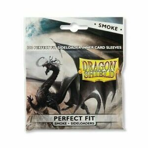 Dragon Shield CLEAR PERFECT FIT SIDE LOADER SMOKE 100 ct sleeves MAGIC POKEMON