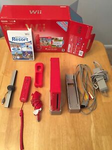 Nintendo Wii 25th Anniversary Limited Edition Red Console W Extras