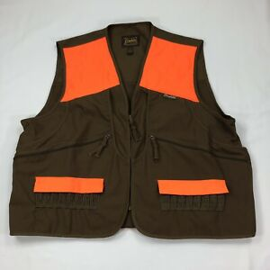 Men's Gamehide Briar Proof Upland Hunting Vest Marsh BrownOrange 2XL