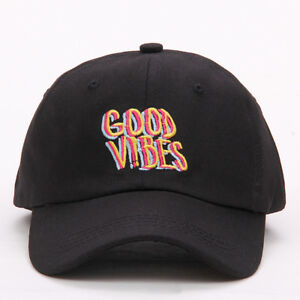 Good Vibes Dad Hat Embroidered Baseball Cap Curved