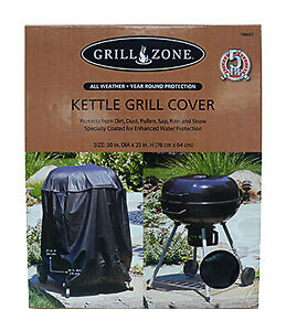 Kettle Grill Cover, Eco-Tech Material, 30 x 30 x 25-In.