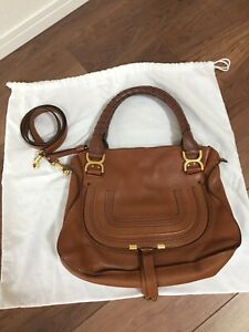 Authentic Chloé Marcie Medium Leather Bag (+Shoulder Strap)