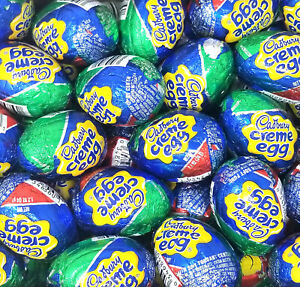 Cadbury Easter Milk Chocolate Eggs Creme Filled Candy, 1.2-Ounce Eggs, Bulk
