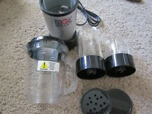 Huge LOT Magic Bullet Blender System Model MB1001C With Many Attachments   EUC
