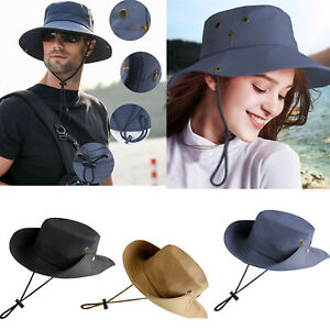 Unisex Bucket Hat Boonie Outdoor Sun Cap Wide Brim Military For Hunting Fishing