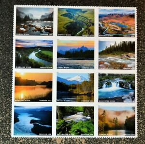 2019USA Forever Wild and Scenic Rivers - Block of 12  Mint