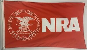 NRA Traditional Flag Banner 3x5FT National Rifle Association Man Cave Red Gun