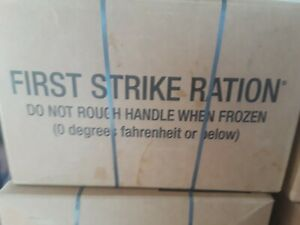 1 CASE MRE First Strike Ration INSPTEST DATE 022022
