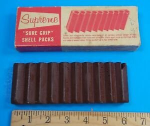 VINTAGE SUPREME RUBBER HARD BULLET AND SHOTGUN SHELL SURE GRIP SHELL PACK IN BOX