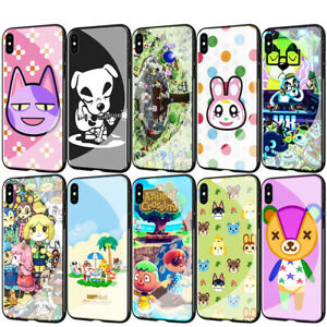 Animal Crossing Tempered Glass TPU Case for iPhone XS Max X 8 7 6 6S Plus