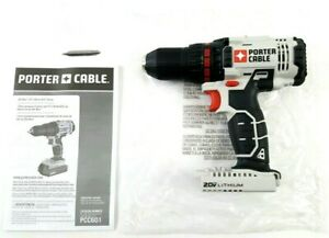 Porter Cable PCC601 PCC601B 1 2quot; 20V MAX Lithium Ion Drill Driver Tool Only $59.99
