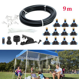 19.6FT 30FT 50FT Outdoor Misting Cooling System Garden Water Mister Nozzles Set