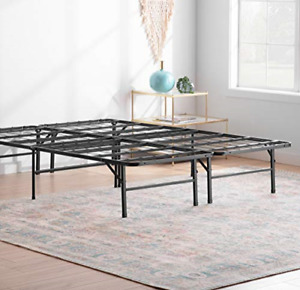 Linenspa14 Inch FoldingMetalPlatform Bed Frame - 13 Inches of Clearance - of