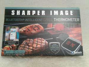 NEW THE SHARPER IMAGE BLUETOOTH SMARTPHONE GRILL THERMOMETER