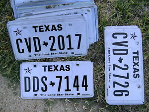 HUGE USED EXPIRED Texas License PLATE LOT 60 Total ALL TEXAS PLATES