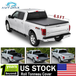 New Roll up Tonneau Cover 6.5' Bed Fit for 07-18 GMC 1500 2500 Soft Bed Cover