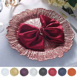 6 pcs 13-Inch Round Reef Charger Plates Wedding Party Table Top Decorations Sale