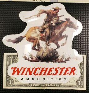 Winchester Ammunition 6 inch Decal Sticker Glass see through style