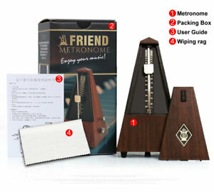 Antique Vintage Wood Mechanical Metronome Tempo Music Timer Classical Wooden $35.00