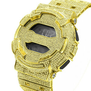Custom Men's  Designer Gold Canary G Shock Metal Band Custom Digital Watch GD100