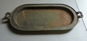 Antique #8 Cast Iron Long Oval Griddle Unmarked Nice One (VE)
