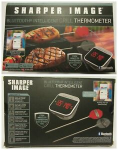 NEW! Sharper Image Bluetooth Intelligent Grill Thermometer Cook BBQ Meat Perfect