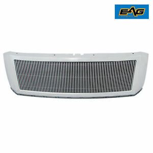 EAG Fits 07-14 Ford Expedition Chrome Aluminum Billet Grille+Shell