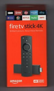 AMAZON FIRE TV STICK 4K with Alexa Remote HDR Media *BRAND NEW in RETAIL BOX
