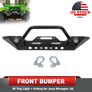 Steel Front Bumper with Winch Plate 2 Stage Finish for Jeep Wrangler JK 07-18