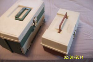 2 Great PLANO TACKLE BOXES W 60 FISHING LURES (one price) Shipped in container