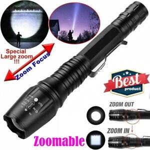 200000Lumens Super Bright T6 LED Flashlight 18650 Military Police Tactical Torch