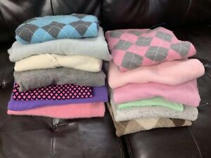 13 Sweater Lot 100% Cashmere Crafts Up-Cycling Crafting Material Cutter 7 lbs