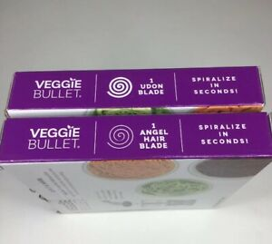 VEGGIE BULLET BLADES, ANGEL HAIR AND UDON LOT of 2 BLADES