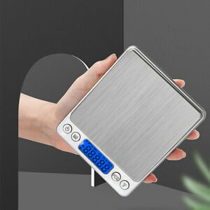 Kitchen Scale Electronic Food Weighing Scale Digital Measuring Gram Accurate0.1g $12.99