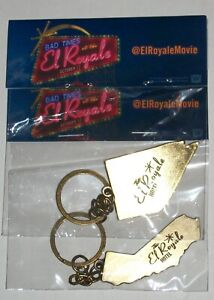 Bad Times at the El Royale Keychain Set of 2 California & Nevada Movie Promos
