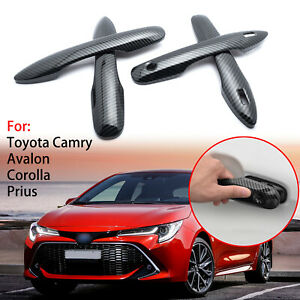 Door Handle Carbon Pattern Trim Cover 4D For Toyota Camry Corolla Prius 2018+