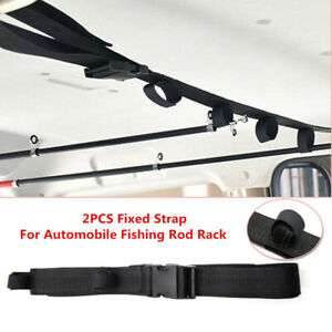 Adjustable Car Fishing Rod Carrier Rod Holder Belt Strap W Tie Fishing rod Rack