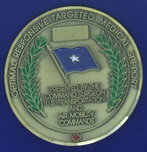 USAF AMC United States Transportation Command Command Surgeon Challenge Coin N