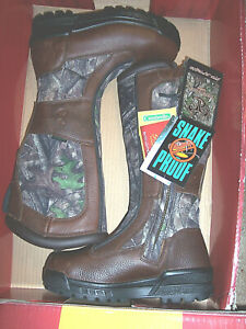 Womens Boots Snake Proof Boots Water Proof Boots Camo Hunting Boots Leather 8.5