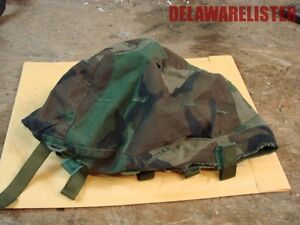 **US Military Army Troop Pasgt Steel Pot Helmet Woodland Camo Cover LARGE