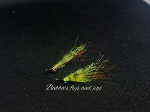 2 Hand tied Crazy Charlie NEW COLOR quot; Perchquot; BEST CRAPPIE FLY EVER size 8