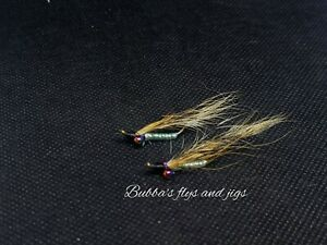 2 Hand tied Crazy Charlie Natural Minnow BEST CRAPPIE FLY EVER size 8