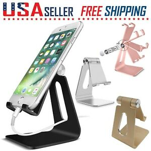Cell Phone Stand Tablet Switch Aluminum Desk Table Holder Cradle Dock iPhone
