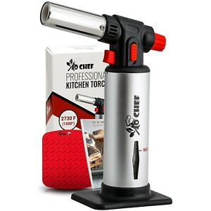 Kitchen Torch Cooking Refillable Culinary Food Blow Baking Pastry Creme Brulee