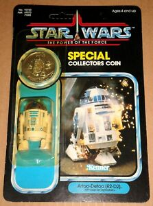 POTF 1985 Star Wars R2-D2 with Pop-Up Lightsaber MOC Kenner Power Of The Force