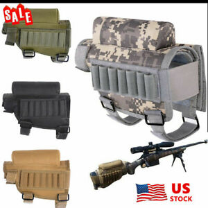 Tactical Buttstock Ammo Pouch Shotgun Rifle Stock Pouch Shell Cartridge Holder